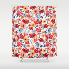 Red Radiance Shower Curtain