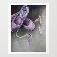 Pointe Shoes Art Print