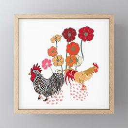 Rooster Toss Framed Mini Art Print