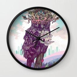 Journeying Spirit (Owl) Wall Clock