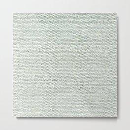 Grey Flat Weave Rug Texture Pattern Metal Print