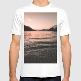 Sunset at the Mountain Lake - Nature Photography T-shirt