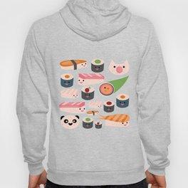 Kawaii sushi teal Hoody