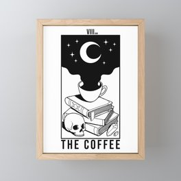 The Coffee (White) Framed Mini Art Print
