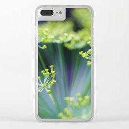 Dill flowers in herb garden Clear iPhone Case