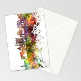 Parma skyline in watercolor background Stationery Cards