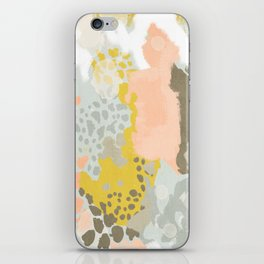 Upton - Abstract painting perfect for dorm room phone case abstract art and feminine abstract art iPhone Skin