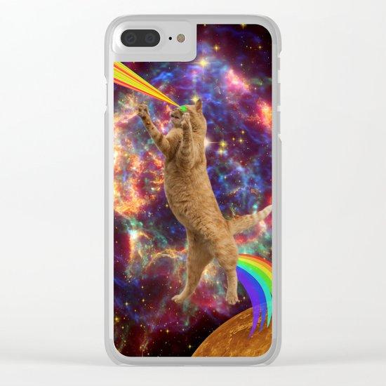 CAT SPACE  Clear iPhone Case