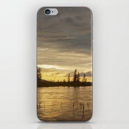 golden sunset iPhone Skin