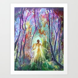 Dance of the Changing Leaves Art Print