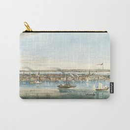 Vintage Panoramic Map of NYC (1844) Carry-All Pouch