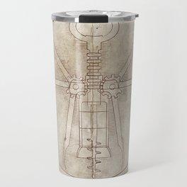 Da Vinci's Real Screw Invention Travel Mug