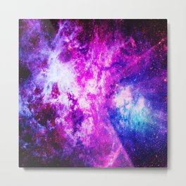 Purple Blue nebuLA Metal Print