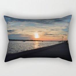 Boardwalk Sunset Rectangular Pillow