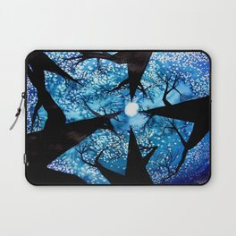 Looking up at Midnight Trees Laptop Sleeve