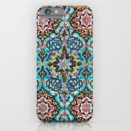 Traditional ceramic tile design Portugal Terrazzo Blobs iPhone Case