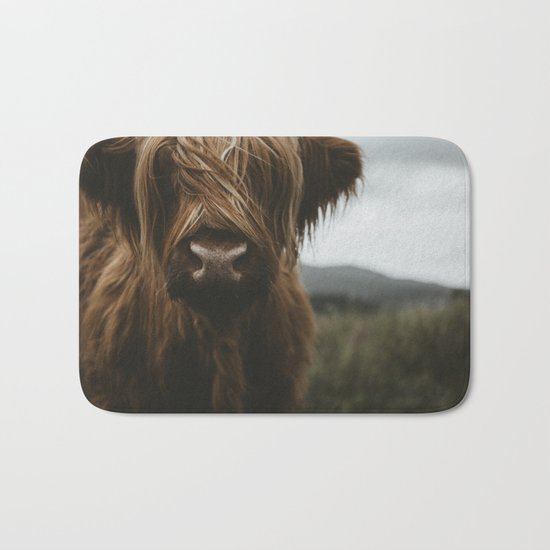 Scottish Highland Cattle Bath Mat