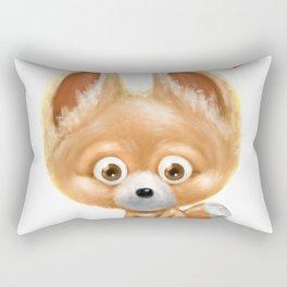 Super cute baby fox kawaii perfect for all animal lovers! Rectangular Pillow