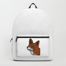 Watercolor animals fox painting Backpack