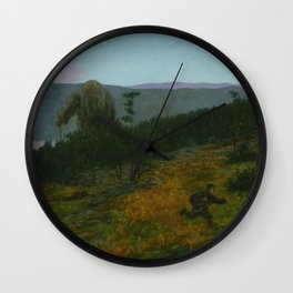 Theodor Kittselsen - The Ash Lad and the Troll (1900) Wall Clock