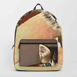 Tabby Cat Named Pipsqueak  Backpack