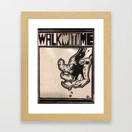 walkwithme. Framed Art Print