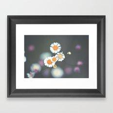 Retro Daisy Framed Art Print