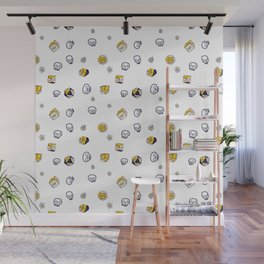 Dice, Daisies, and a lot of Skulls Wall Mural