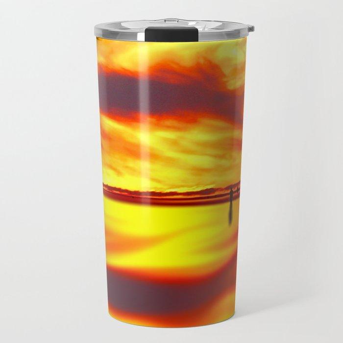 Reflections of Sunset Travel Mug