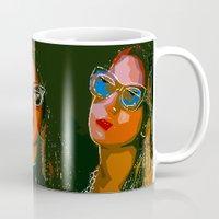 haim Mugs featuring Haim Print by Bolin Cradley Art