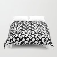 mod Duvet Covers featuring Mod Flower by Alice Rebecca Potter