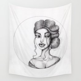 JennyMannoArt Graphite Drawing/Nora Wall Tapestry