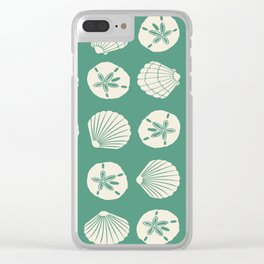Sea Shells Green Clear iPhone Case