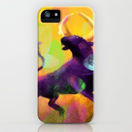 Ragging Bull iPhone Case