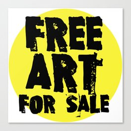 Free Art for Sale (yellow) Canvas Print