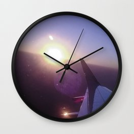 Fly, fly looking at the sun. Wall Clock