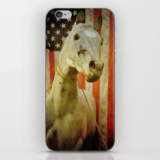 Portrait of an American Horse iPhone & iPod Skin