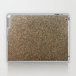 gold glitter photo Laptop & iPad Skin