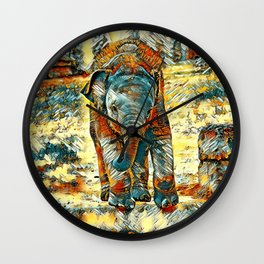 AnimalArt_Elephant_20171201_by_JAMColorsSpecial Wall Clock