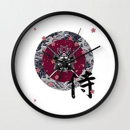 Be A Samurai Wall Clock