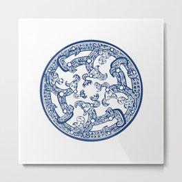 Chinese Pattern Metal Print