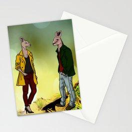 kangaroo couple Stationery Cards