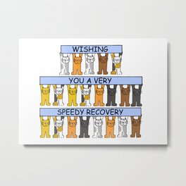 Cats wishing you a speedy recovery Metal Print