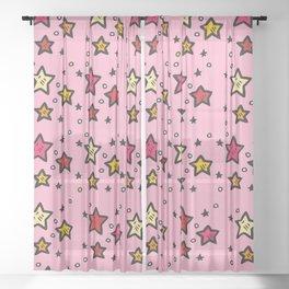 Barbie Stars Sheer Curtain