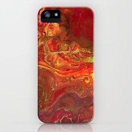 Acrylic Pour #45 Lava-Love iPhone Case