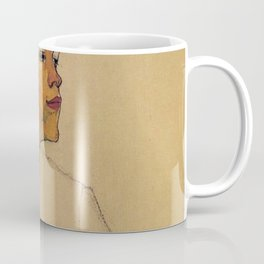 SELF PORTRAIT WITH HANDS ON CHEST - EGON SCHIELE Coffee Mug