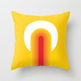 Desert Blaze Throw Pillow