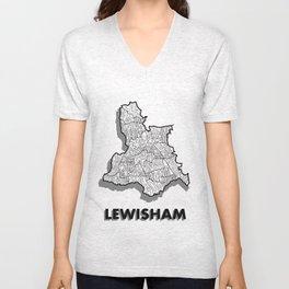 Lewisham - London Borough - Simple Unisex V-Neck