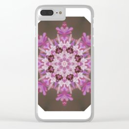 Lilac floral flake Clear iPhone Case