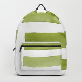 Green Stripe Abstract Art Backpack